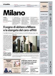 la Repubblica Milano - 21 Marzo 2018