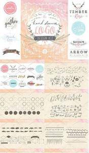 CreativeMarket - Hand Drawn Logo Design Kit