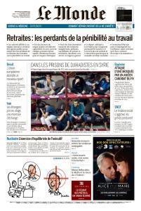 Le Monde du Mercredi 30 Octobre 2019
