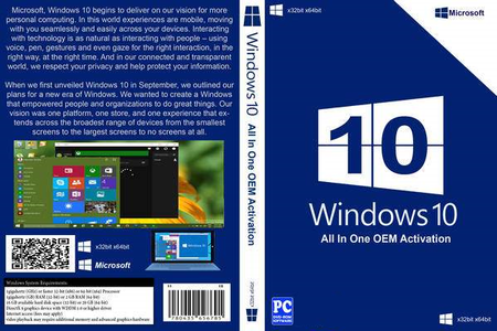 Microsoft Windows 10 Aio 1511 Build 10586 OEM May 2016 Multilingual Full Activated