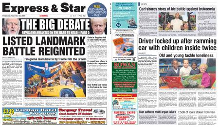 Express and Star Sandwell Edition – November 20, 2019