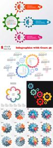 Vectors - Infographics with Gears 49