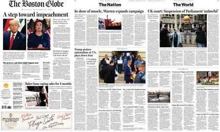 The Boston Globe – September 25, 2019