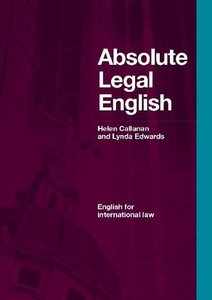 Absolute Legal English Book: English for International Law (with Audio CD) (repost)
