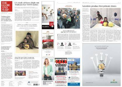 The Globe and Mail – January 25, 2018