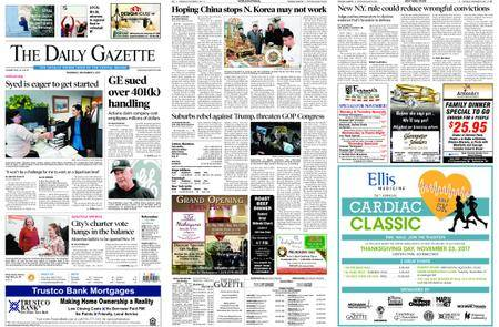 The Daily Gazette – November 09, 2017