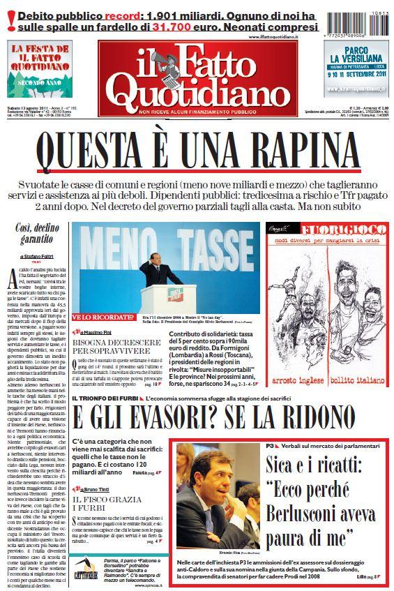 Il Fatto Quotidiano (13-08-11)