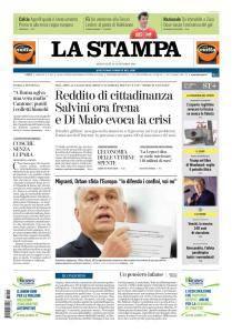 La Stampa Torino Provincia e Canavese - 12 Settembre 2018