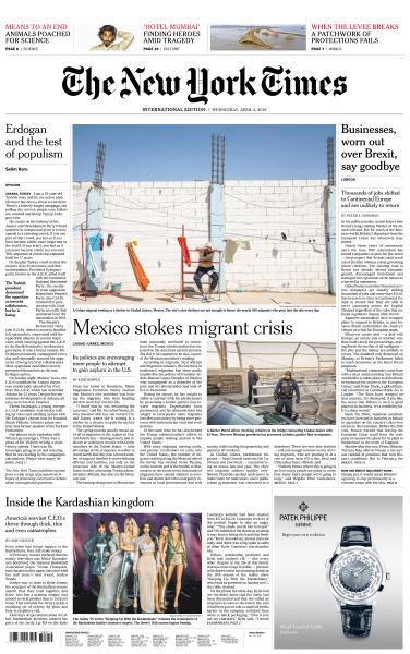 International New York Times - 3 April 2019