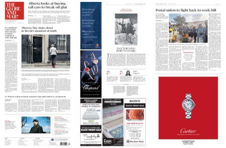 The Globe and Mail – November 23, 2018