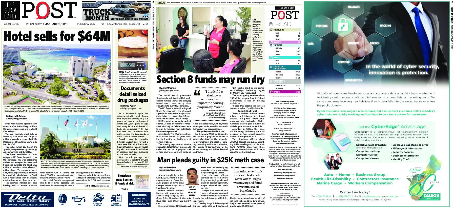 The Guam Daily Post – January 09, 2019