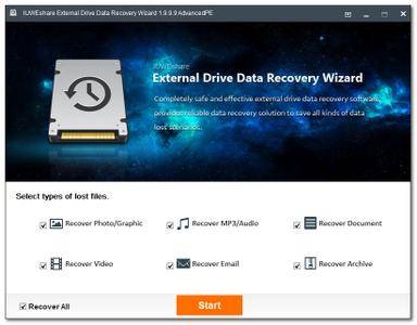 IUWEshare External Drive Data Recovery Wizard 1.9.9.9 Unlimited / AdvancedPE