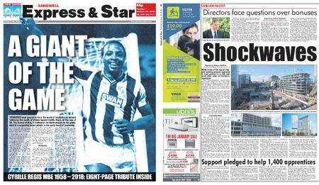 Express and Star Sandwell Edition – January 16, 2018