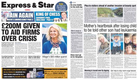 Express and Star Sandwell Edition – August 26, 2020