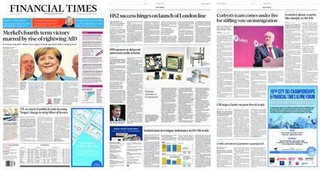 Financial Times UK – September 25, 2017