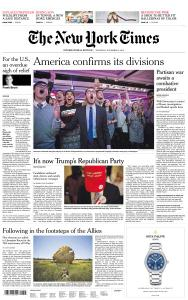 International New York Times - 8 November 2018