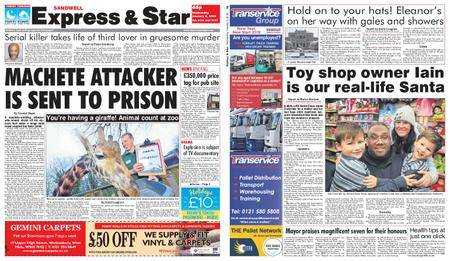 Express and Star Sandwell Edition – January 03, 2018