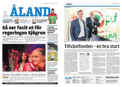 Ålandstidningen – 14 oktober 2019