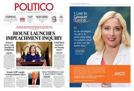 Politico – September 25, 2019