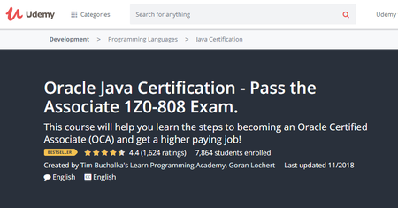 Oracle Java Certification - Pass the Associate 1Z0-808 Exam.