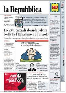 la Repubblica - 25 Agosto 2018