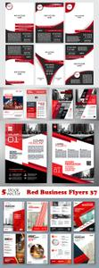 Vectors - Red Business Flyers 37