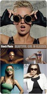 Stock Photo: Beautiful girl in glasses