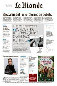 Le Monde du Dimanche 28 et Lundi 29 Janvier 2018