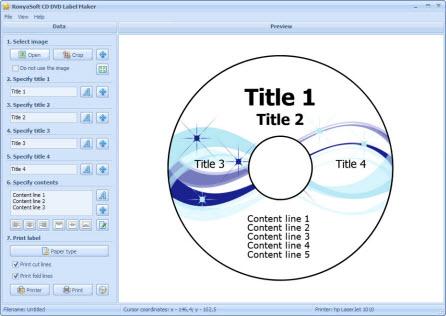RonyaSoft CD DVD Label Maker 3.01.05