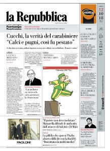 la Repubblica - 12 Ottobre 2018