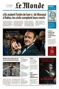 Le Monde du Mercredi 27 Décembre 2017