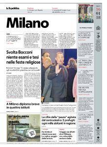 la Repubblica Milano - 16 Gennaio 2018