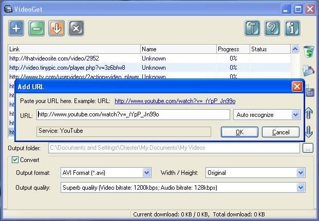VideoGet ver. 1.0.0.8