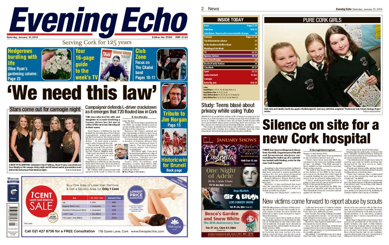 Evening Echo – January 12, 2019