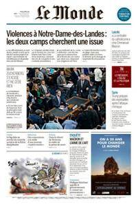Le Monde du Jeudi 12 Avril 2018