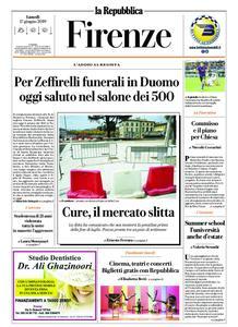 la Repubblica Firenze – 17 giugno 2019