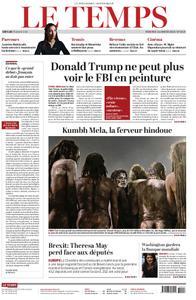 Le Temps - 16 janvier 2019