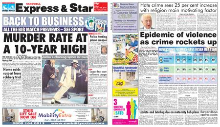Express and Star Sandwell Edition – October 19, 2018