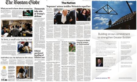 The Boston Globe – January 24, 2020