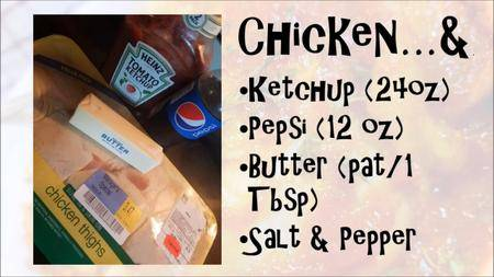 Weird Recipes: Pepsi Chicken