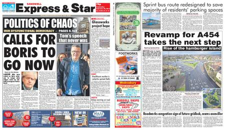 Express and Star Sandwell Edition – September 25, 2019