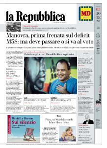la Repubblica - 3 Ottobre 2018