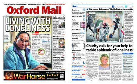 Oxford Mail – December 18, 2017