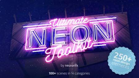 Ultimate Neon Toolkit - Neon Sign Mockup Kit - Project for After Effects (VideoHive)