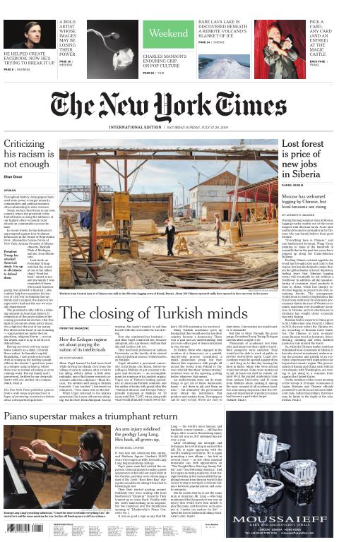 International New York Times - 27/28 July 2019