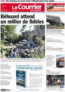 Le Courrier de l'Ouest Angers - 15 août 2018
