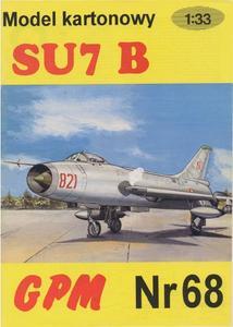 Paper model Gpm n° 068 Suhkoi Su-7  Scale 1:33