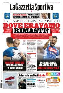 La Gazzetta dello Sport Roma – 25 agosto 2019