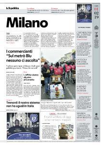 la Repubblica Milano - 1 Febbraio 2019