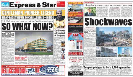 Express and Star City Edition – January 16, 2018